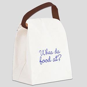 Whea da food at? Canvas Lunch Bag