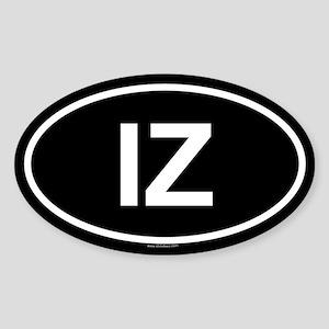 IZ Oval Sticker