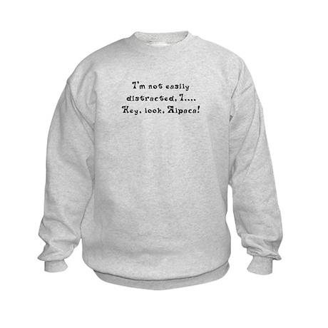 Distracted by Alpaca Kids Sweatshirt