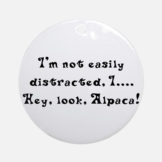Distracted by Alpaca Ornament (Round)
