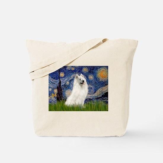 Starry / Samoyed Tote Bag