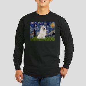 Starry / Samoyed Long Sleeve Dark T-Shirt
