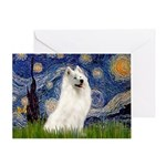 Starry / Samoyed Greeting Card