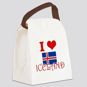 I Love Iceland Canvas Lunch Bag