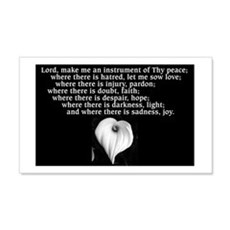 Prayer of St. Francis with Calla Lily Wall Decal