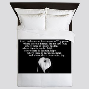 Prayer of St. Francis with Calla Lily Queen Duvet