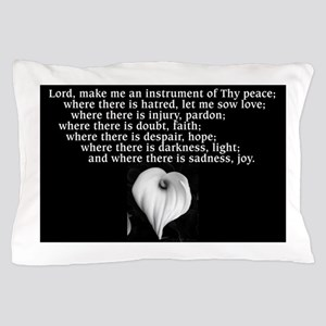 Prayer of St. Francis with Calla Lily Pillow Case