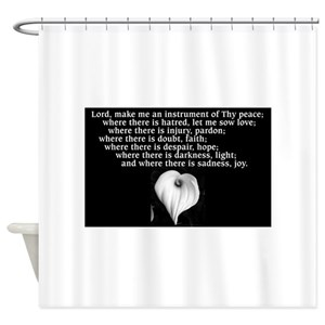 Prayer Of St Francis Shower Curtains