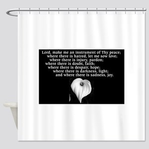 Prayer Of St Francis With Calla Lily Shower Curta