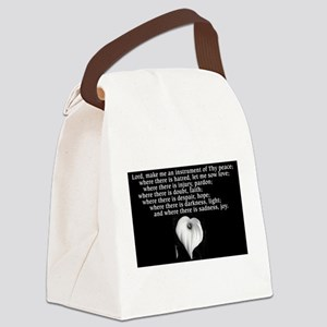 Prayer of St. Francis with Calla Lily Canvas Lunch