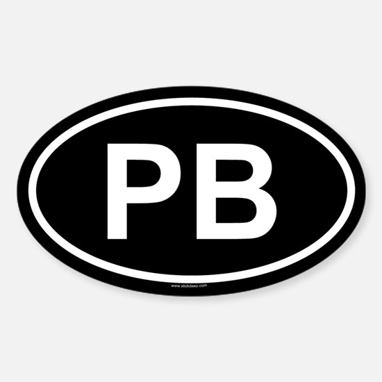 PB Oval Decal