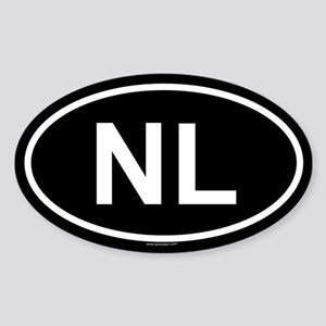 NL Oval Sticker