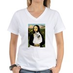 Mona / Samoyed Women's V-Neck T-Shirt