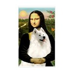 Mona / Samoyed Sticker (Rectangle)