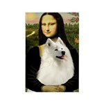 Mona / Samoyed Rectangle Magnet
