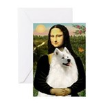 Mona / Samoyed Greeting Card