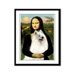 Mona / Samoyed Framed Panel Print