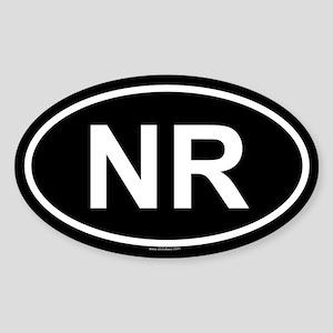 NR Oval Sticker