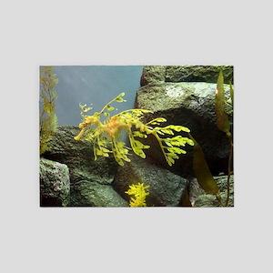 Leafy Sea Dragon with Rocks 5'x7'Area Rug