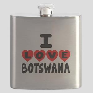 I Love Botswana Flask