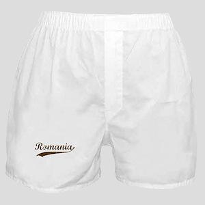 Vintage Romania Retro Boxer Shorts