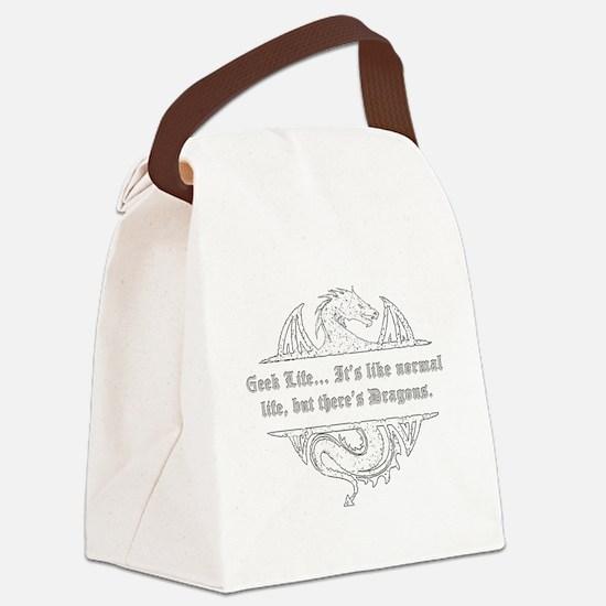 Cute Geek Canvas Lunch Bag
