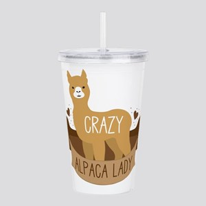 Crazy Alpaca lady Acrylic Double-wall Tumbler