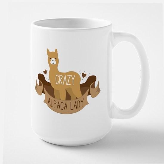Crazy Alpaca lady Mugs
