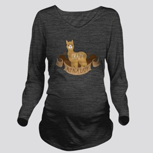 Crazy Alpaca lady Long Sleeve Maternity T-Shirt