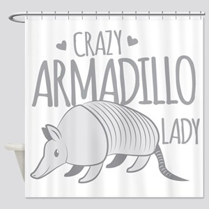Crazy Armadillo lady Shower Curtain