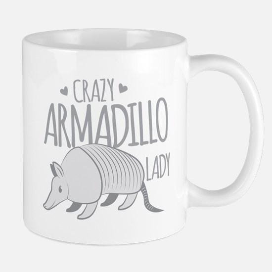 Crazy Armadillo lady Mugs