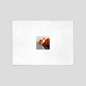 Candy corn dog 5'x7'Area Rug