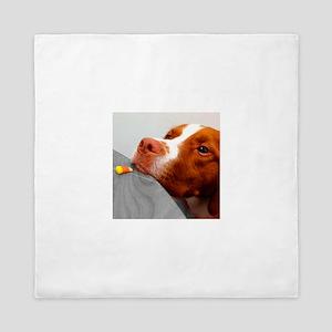 Candy corn dog Queen Duvet