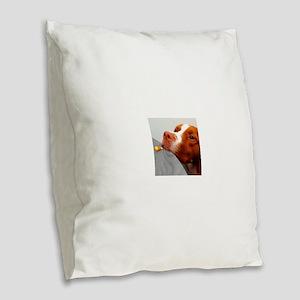 Candy corn dog Burlap Throw Pillow