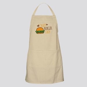 Crazy Burger lady Apron