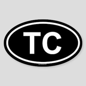 TC Oval Sticker