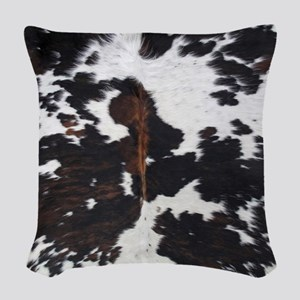 Cowhide Woven Throw Pillow