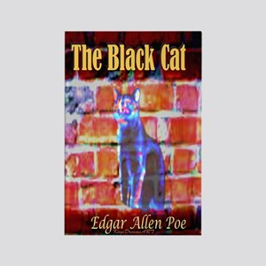 The Black Cat Rectangle Magnet