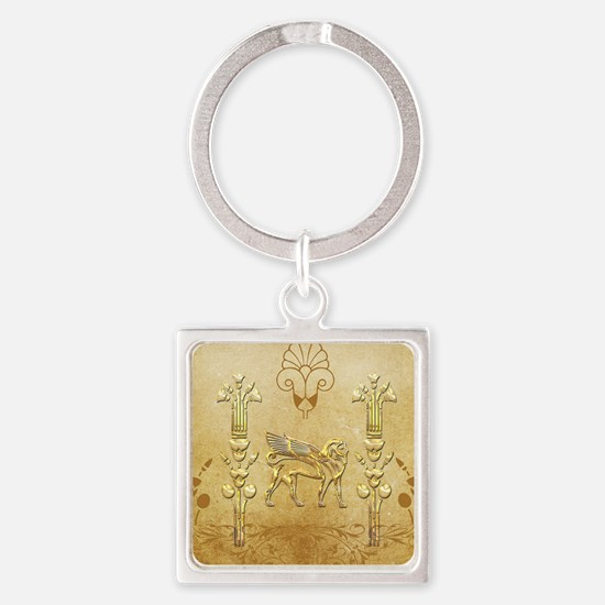 Wonderful egyptian sign with lion Keychains
