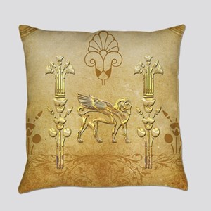 Wonderful egyptian sign with lion Everyday Pillow