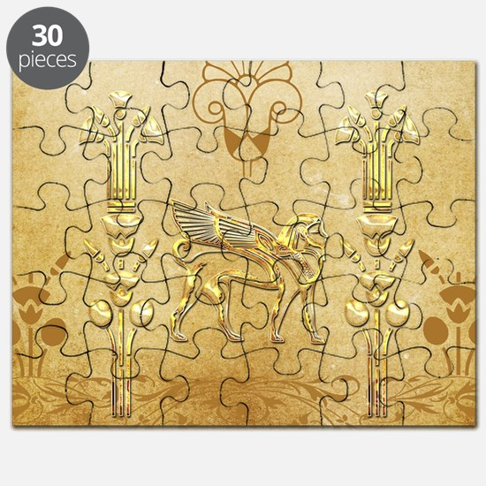 Wonderful egyptian sign with lion Puzzle