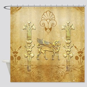 Wonderful egyptian sign with lion Shower Curtain