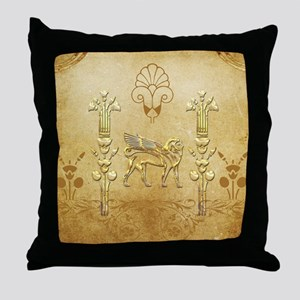 Wonderful egyptian sign with lion Throw Pillow