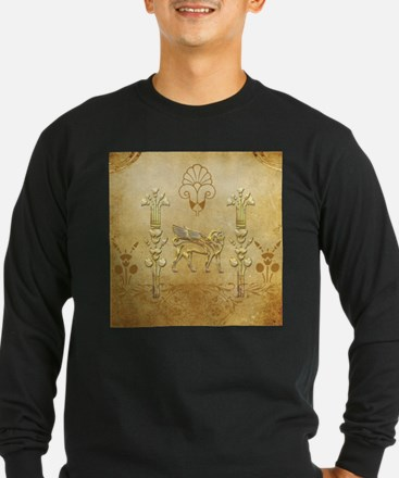 Wonderful egyptian sign with lion Long Sleeve T-Sh