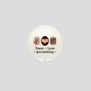Peace Love Accounting Accountant Mini Button