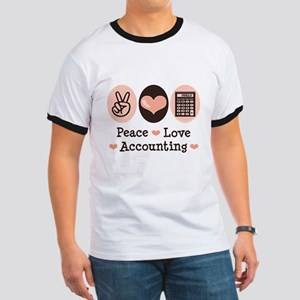 Peace Love Accounting Accountant Ringer T