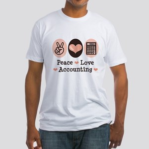 Peace Love Accounting Accountant Fitted T-Shirt
