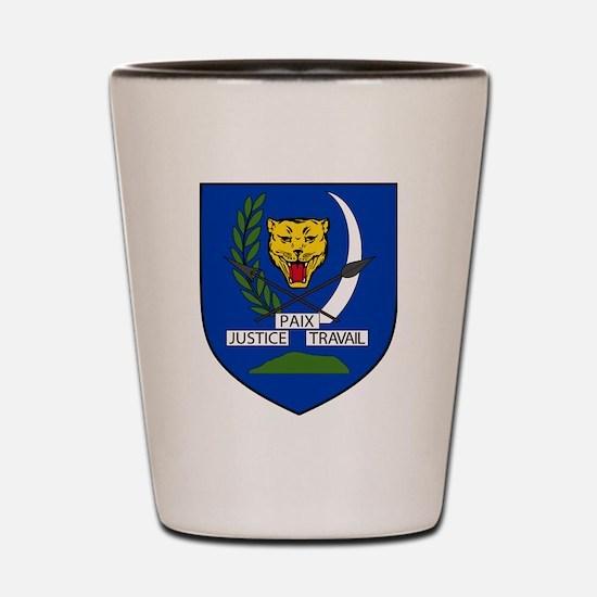 Funny Democratic republic of congo Shot Glass