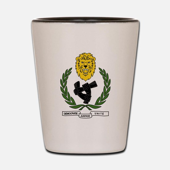 Unique Democratic republic of congo Shot Glass