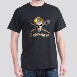 Coal miner pick ax spade skull T-Shirt